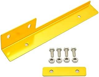 IKON MOTORSPORTS Universal Compatible with Front Bumper License Relocator Bracket Holder Bar (Gold)