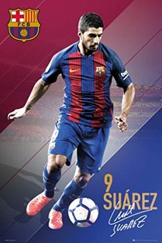 "POSTER STOP ONLINE FC Barcelona - Soccer Poster/Print (Suarez #9-2016/2017) (Size: 24"" x 36"")"