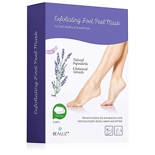 Price comparison product image 2 Pairs Foot Peel Mask Exfoliant for Soft Feet in 1-2 Weeks,  Exfoliating Booties for Peeling Off Calluses & Dead Skin,  For Men & Women Lavender by Bea Luz