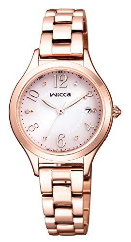 [シチズン] 腕時計 ウィッカ ソーラーテック 電波時計 ハッピーダイアリー HAPPY DIARY シンプルアジャスト KS1-261-91 レディース ピンクゴールド
