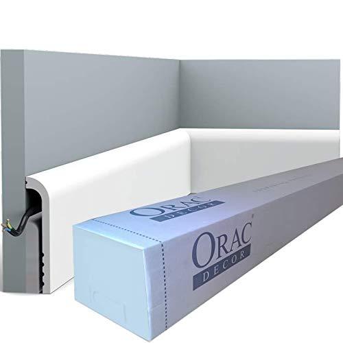 Orac Decor - Carton de 16m SX185 Plinthe Orac Decor - 12x2,5x200cm (h x p x L) - surplinthe décorative polymère