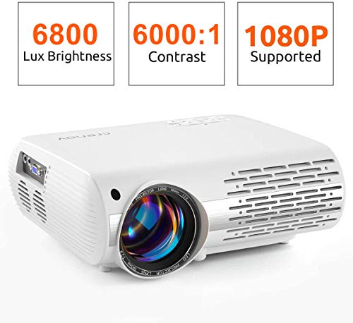 Crenova Video Projector, 6800 Lux Home Movie Projector(550 ANSI), 200