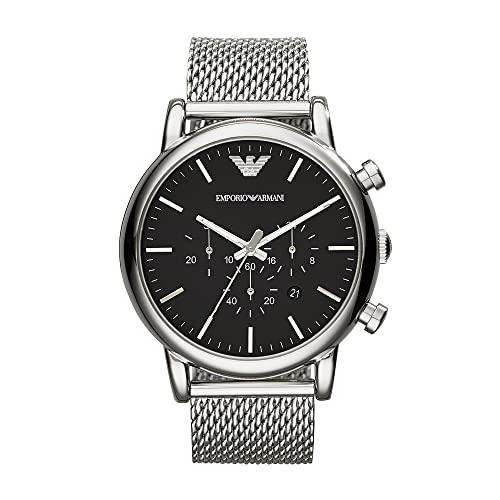Emporio Armani AR1808 Watch, Men, Dress Silver