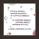 Programmer Gift | 7x7'' Tile Artwork Ideal for Computer Science Enthusiasts | Funny Programming Gifts for Geek | Ideal Present for Digital Programmers | Great for Room Decor | Code Art for Technicians