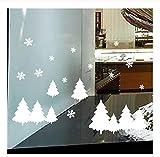 Árbol de navidad Pegatinas de Pared Inicio Ventana Wallpapers Casa Habitación Navidad Etiqueta de La Pared Decoración Calcomanía Extraíble Pegatinas