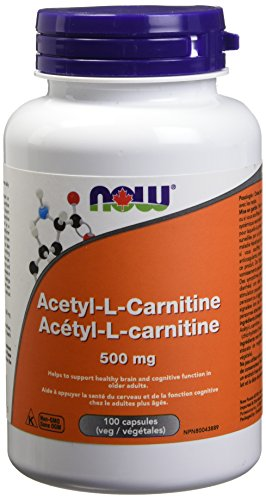 NOW Acetyl L-Carnitine Veg Capsules, 500mg, 100 Count