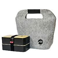 bento box lunch box bicomponente 1200ml con borsa termica / riscaldamento di imk ...