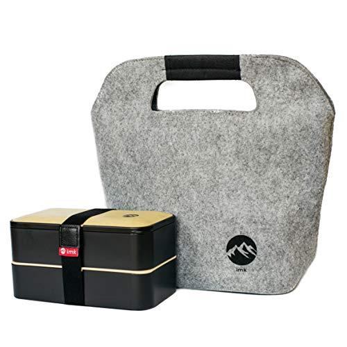imk Bento Box Lunch Box Brotdose mit Kühltasche mealprep Boxen