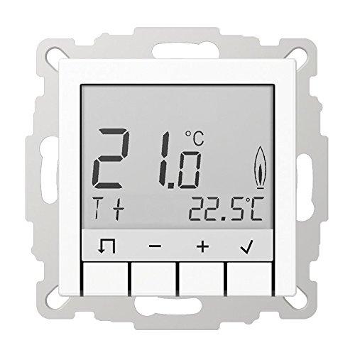 JUNG TR D A 231 WW Thermostat, weiß, Thermoplast, 0,5 °C, Tasten, LCD