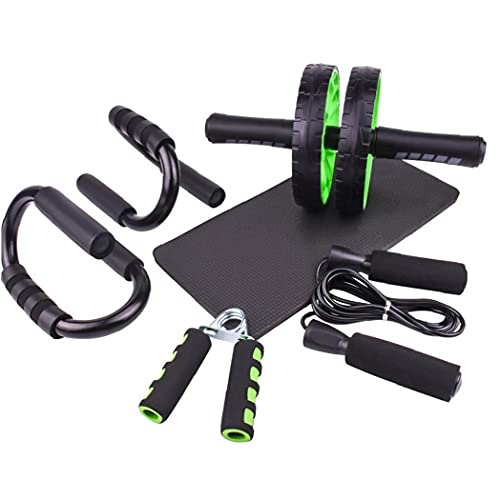 Uayasily AB Wheel Roller Kit 6-in-1 Core Trainers Abdominales con Rueda Rodillo AB Rueda Salto Cuerda para Entrenamiento Aptitud del Hogar