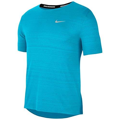 NIKE DF Miler, Camiseta Hombre, Chlorine Blue/Reflective Silv, XL