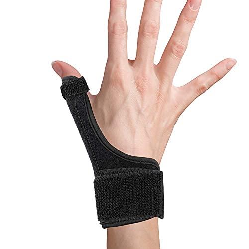 Férula de pulgar y apoyo de soporte de muñeca para la mano izquierda y derecha, la lesión de los dedos se recupera para el alivio del dolor crónico RSI y CTS, la artritis, la tenosinovitis y el túnel