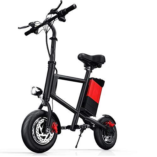 FUJGYLGL Portable Adulto del Scooter eléctrico, Cuerpo de aleación de Aluminio, Plegable, Ligero, Fuerte Capacidad de Carga, frenado Sensible