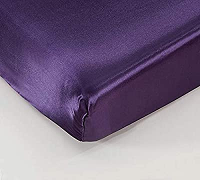 "EHP Super Soft & Silky Satin Crib Fitted Sheet 28"" X 52"" + 9"" (Solid/Deep Pocket) (Purple)"