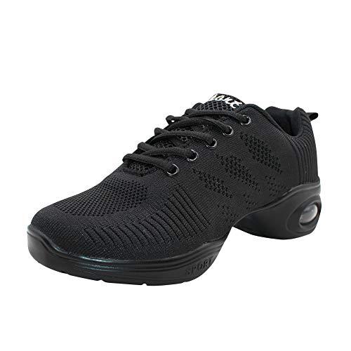 Yudesun Suela Partida Zapatos Aire Libre Deportes Danza Mujer - Zapatillas Negro Informal Jazz Contemporáneo Baile Practicidad Running Sneaker (Los Zapatos Son Más Pequeños)