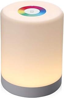 Zz 装飾ライト、充電式スマートLEDタッチコントロールナイトライト付フックは、スマートファッションクリエイティブ調光RGBの色は、ベッドサイドランプの交換します 寝室で装飾照明、子供部屋、リビングルーム、バー、ショップ、カフェ、レストランなど...