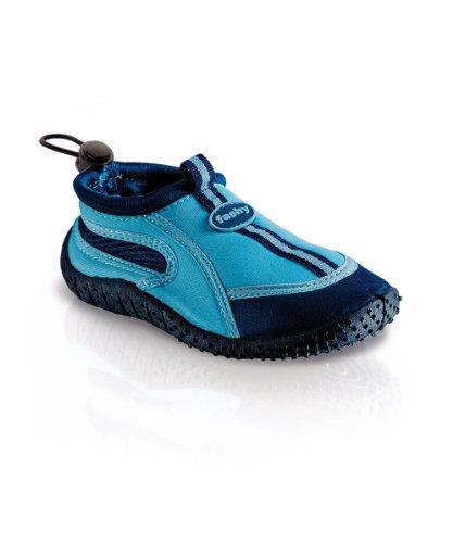 Fashy Kinder Outdoor Aqua-Schuh Guamo mit Kordelzug, hellblau/Marine, Größe 34