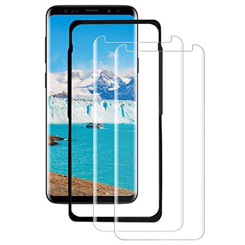 SYANFI [2 Pezzi] Vetro Temperato per Samsung Galaxy S9, Pellicola Protettiva 3D Copertura Completa, Anti-Graffi, 9H Durezza, Senza Bolle, HD Chiaro
