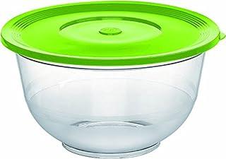 Emsa Superline 513511 Ensaladera con Tapa, 3.5 L, Plástico/Vidrio, Transparente/Verde