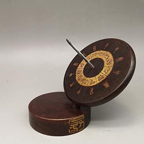 HEEYEE Retro Pure Pure Rame Sundial, Solar Altitudine Misurazione cronografo Bussola, Arredamento per la casa Gossip, Illuminato da Un Maestro Cinese