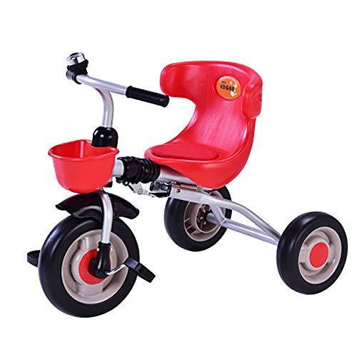 SHARESUN kinderen driewieler voor 2 jaar oud en up jongens meisjes, peuter driewielers evenwicht fiets vouwen kind Trike met voorzijde mand voor 2-6 jaar oude kinderen lopen 3 Wheeler