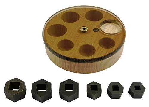 Gewindebohrer Adapter Gewindeschneider 13 / 17 Schlüsselweite für Knarre Ratsche Nuss in Holzbox TOP