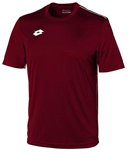 Lotto Sport Herren Delta Jersey Short Sleeve, Granata/White, M