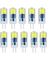 BANGSHUO G4 2W LED-lamp 20W equivalente halogeenlamp, Koudwit 6000K G4 200LM Ledlampen, AC220-240V G4 Flikkervrij Niet Dimbaar- 10 stuks