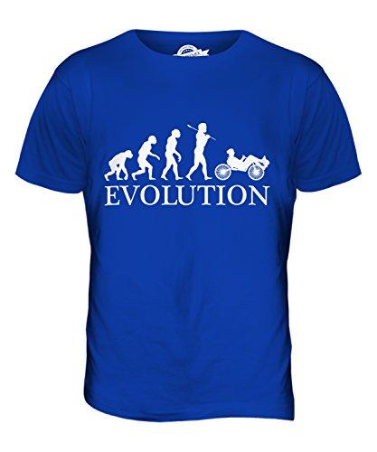 Candymix Liegerad Evolution des Menschen Herren T Shirt, Größe Large, Farbe Königsblau