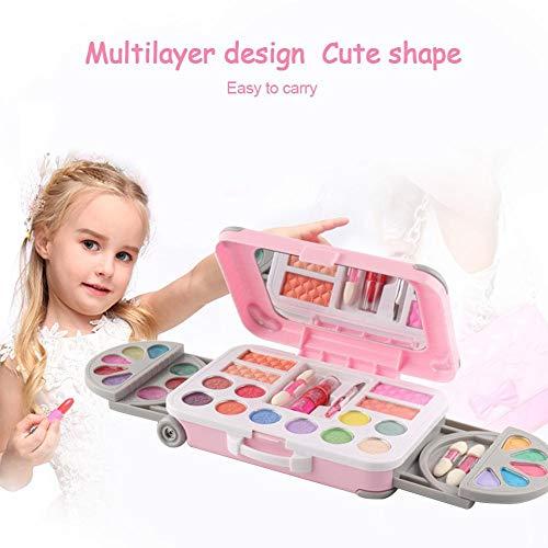 urbenlife Make-up-spielzeug-set Für Kinder,Kosmetikspielset Für Mädchen Princess Makeup Box Makeup Palette Für Mädchen Lippenstift Show Spielhaus Spielzeug lovely