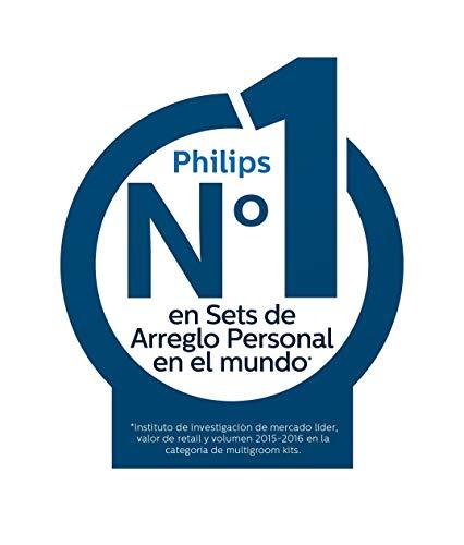 Philips BG5020/15 Bodygroom Series 5000 Rasoio Corpo Wet&Dry, Utilizzabile Sotto la Doccia con 3 Pettini Rifinitori e Accessorio per la Schiena