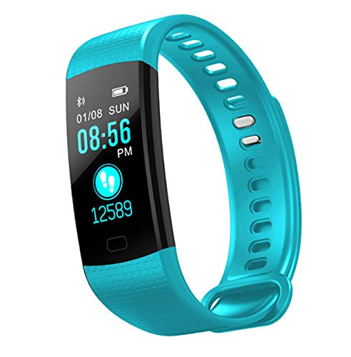 Unisex Smart Watch Best Slim Cool Fitness Tracker Heart Rate Monitor,Gym Sports Tracker Watch, Waterproof Pedometer Watch with Sleep Monitor, Step Tracker(Turquoise)