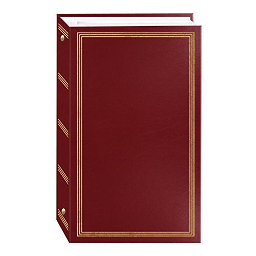 professional Photo album with 3 rings, 300 pockets for 4×6 photos, burgundy red