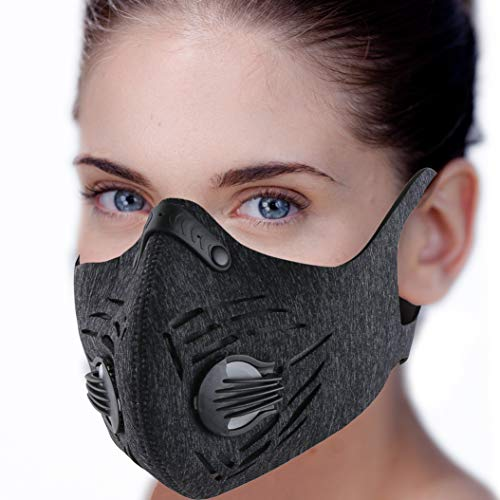 Dust Mask, RooRuns Dustproof Mask (with Ear-loop) Activated Carbon Filtration Exhaust Anti Pollen Allergy PM2.5 Dust-proof Mask for Running, Woodworking