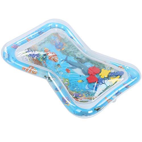 Qioniky Alfombrilla de Agua para bebé fácil de inflar, Interesante cojín de Agua Inflable Infantil Plegable de PVC, para bebé Infantil(Clownfish Shark)