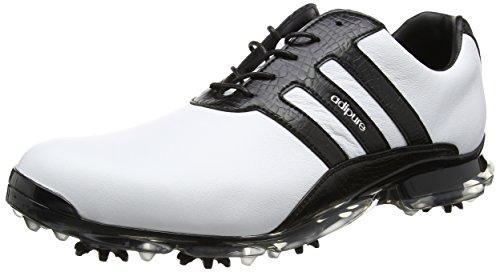 adidas adidas Herren Adipure Classic Golfschuhe, Weiß (White/core Black/core Black), 42 EU