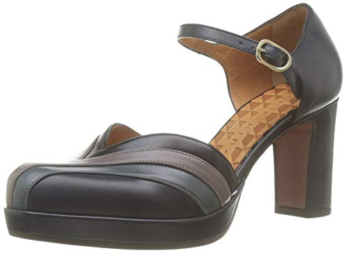 Chie Mihara Joyita, Zapatos con Tacon y Correa de Tobillo Mujer, Multicolor (Anis Nuit Anis Storm Anis Humo Anis Negro Nuit), 39 EU