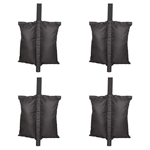 4 er Packung Pavillons Gewichtstasche, Pavillonstandfüße, Outdoor Baldachinzelt- Gewichtstasche/ Sandsäcke/ Sandtasche, Gewichtete Fußtasche für Gartenzelte/ Sonnenschirm, Schwarz