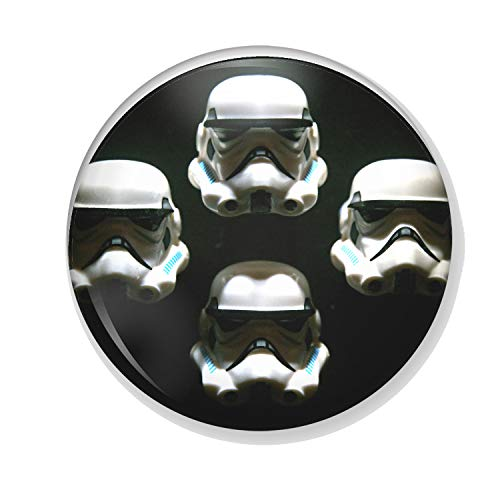 Gifts & Gadgets Co. Star Wars Stormtrooper Bohemian Rhapsody Kühlschrankmagnet aus Metall, rund, bedrucktes Geschenk, 25 mm