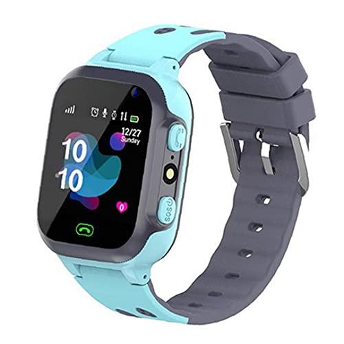 FeelMeet Niños Reloj Inteligente P16 Impermeable de la muñeca Juego SmartWatch Ubicación Multi usos Tracker con Alarma de la cámara del Reloj SOS para Niños Niñas Azul