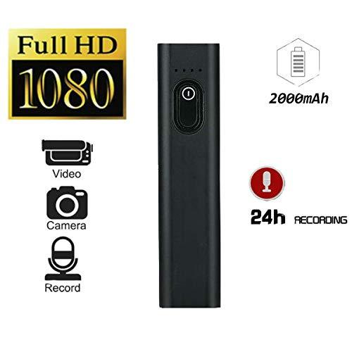 Hangang Mini cámara Oculta de espía Oculta, Full HD 1080P Cámaras S100 de Potencia móvil, amigable de Carga portátil 2000mAh, Mini cámara Video Recorder, cámara Secreta (Negro)