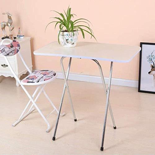 Pequeña mesa de comedor simple mesa plegable para el hogar, comedor, conveniente para exteriores, mesa (80 cm x 40 cm) (color: negro)-gris