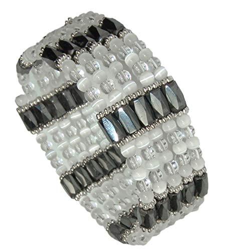 Kaltner Präsente Geschenkidee - Kette für Damen mit Edelstein Kristallquarz Magnetkette Magnetschmuck Halskette Armband 100 cm