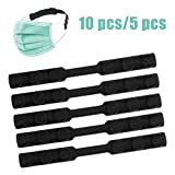 Adjustable Mask Extender Strap, 5 Pcs Face Mask Hook, Ear Protector Anti-Tightening Ear Strap Extension for Ear Pain Relieved Mask Hooks-Black