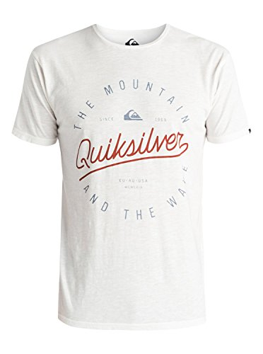 Quiksilver - T-Shirt - Manches Courtes Homme - Blanc - X-Large