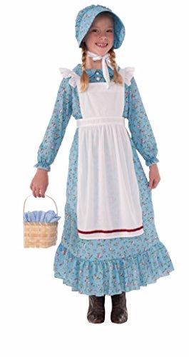 Forum Novelties Girls Pioneer Costume, Blue, Large