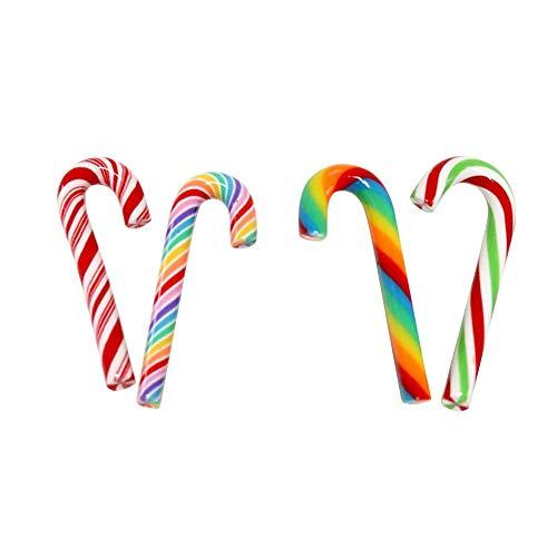 Inicio 5 Piezas Árbol de Navidad Bastón de Caramelo Etiqueta de La Puerta decoración de Adorno Colgante de Caramelo Decoración de Fiesta de Navidad en Casa