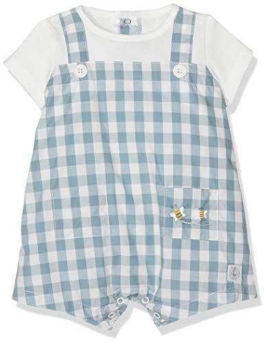 Petit Bateau Backup Pelele, (Fontaine/Marshmallow 01), 80 (Tamaño del Fabricante:18M) para Bebés