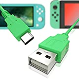 USB C Charger for Nintendo Switch, Fast Charging Cable for Nintendo Switch, MacBook, Pixel C, LG Nexus 5X G5, Nexus 6P/P9 Plus, One Plus 2, Sony XZ and More - Green (4.92ft)