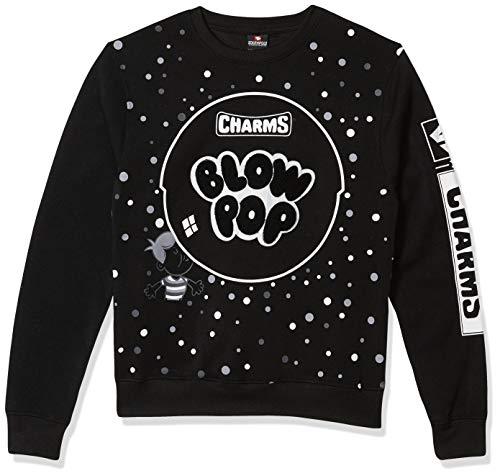 Southpole Men's Tootsie Collection Fashion Fleece Sweatshirt, Black owl Color Block, Medium